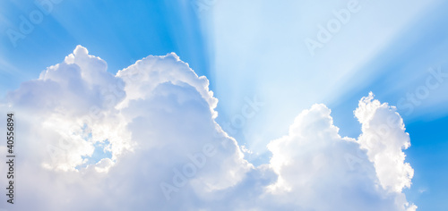 Tableau sur Toile Light from the clouds