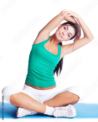 girl stretching #40638816