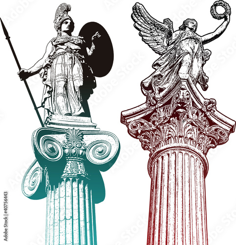 Fototapeta Mytologic statues