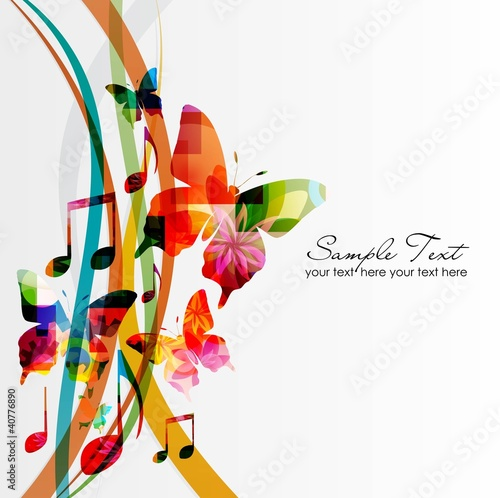 colorful music background #40776890
