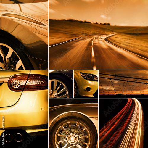 motoring collage #40793651