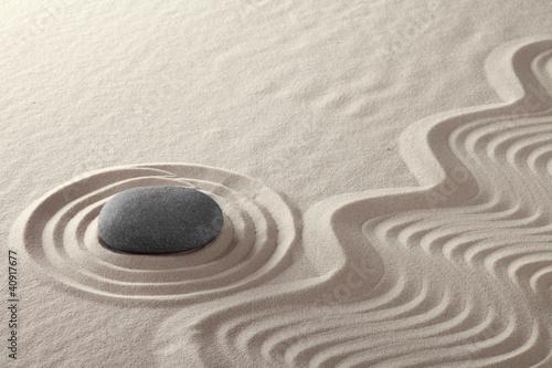 meditation rock garden zen buddhism