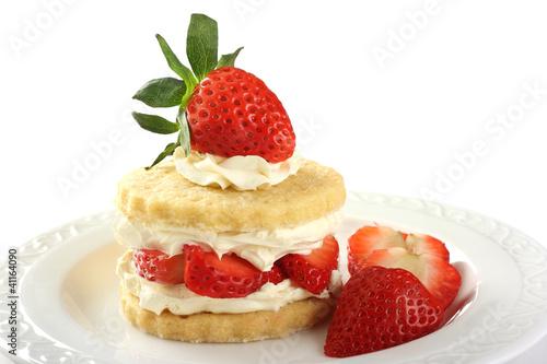 Strawberry and cream shortcake Tapéta, Fotótapéta
