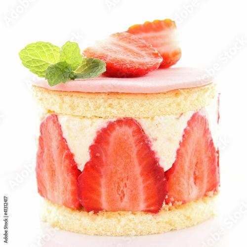 Strawberry shortcake Tapéta, Fotótapéta