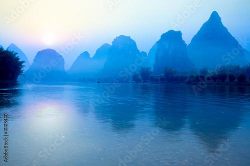 Obraz na plátně guilin at sunrise