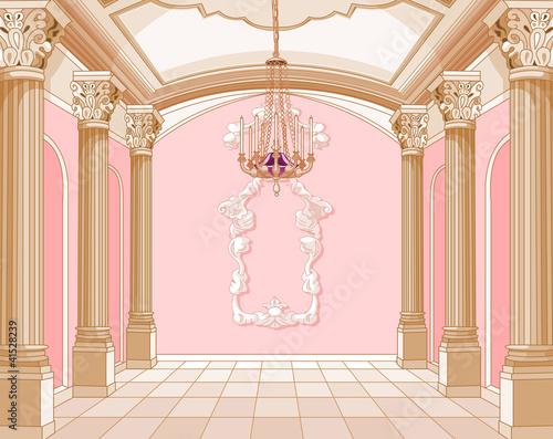 Ballroom of magic castle Fototapet