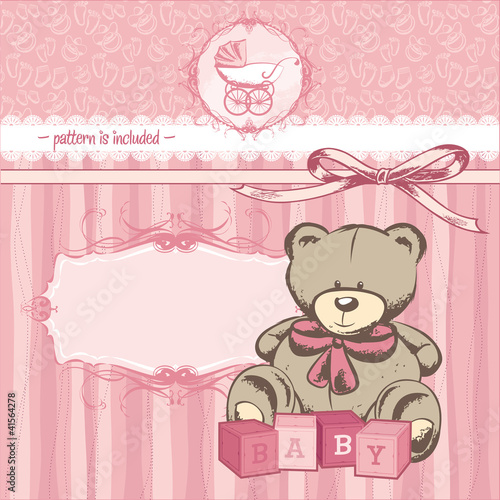welcome baby girl card #41564278
