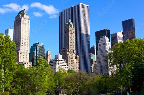 Canvas Central Park and Manhattan skyline, New York City