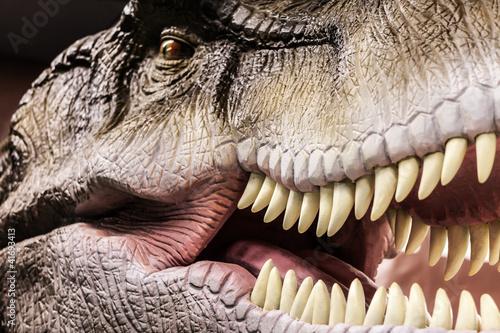 Fototapeta premium Tyrannosaurus przedstawiający jego zębate usta