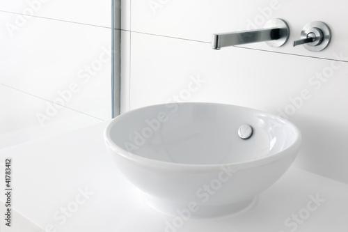 Slika na platnu Luxury trendy washbasin and faucet