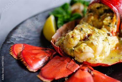 Fotografie, Tablou Gourmet lobster dinner at the restaurant