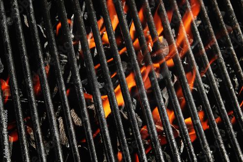 Charcoal fire grill Fototapeta