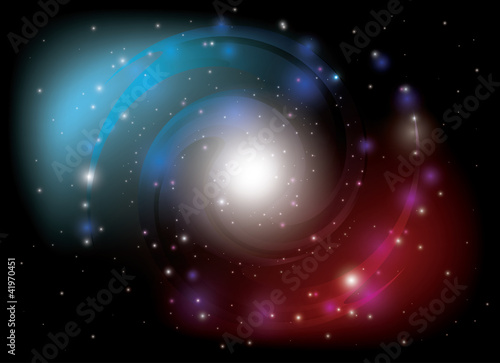 vector colorful spiral galaxy