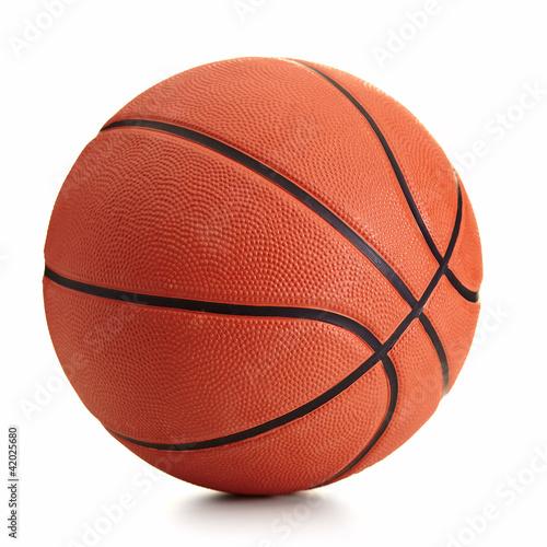 Fotografija Basketball ball over white background