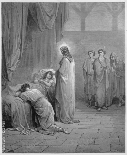 Fotografia, Obraz Jesus raises the daughter of Jairus from the dead