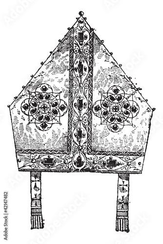 Cuadros en Lienzo Bishop's Miter, vintage engraving