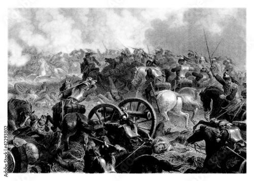 Canvas Print Napoleonian Battle - begining19th century