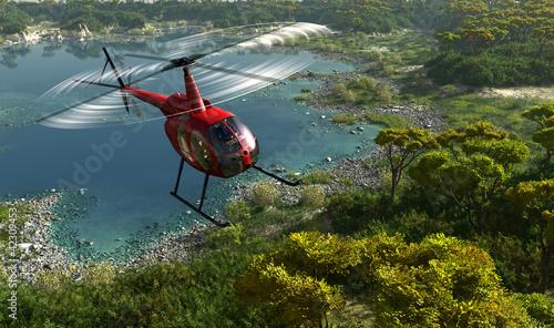 Stampa su Tela Civilian helicopter