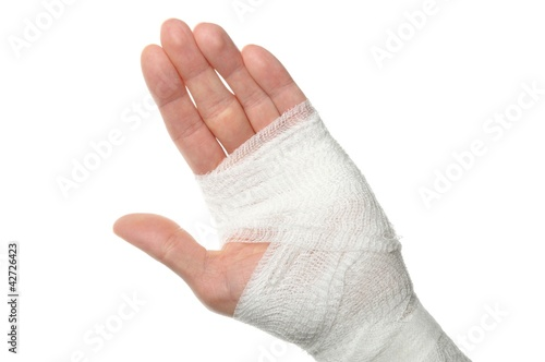 bandage on a hand Fototapete