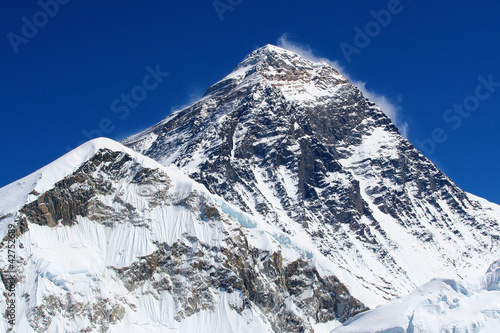 Stampa su Tela World's highest mountain, Mt Everest (8850m)
