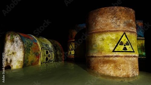 Stampa su Tela Toxic radioactive waste