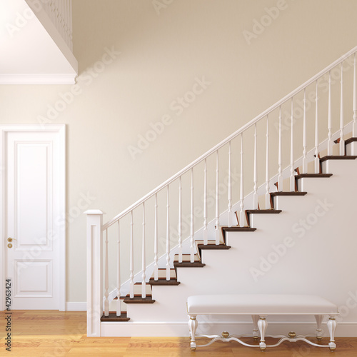 Photo Stairway in the modern house.