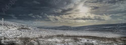 Canvas Print Winter Moorland panorama