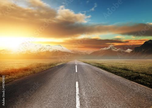 Scenic Route Through the Mountains