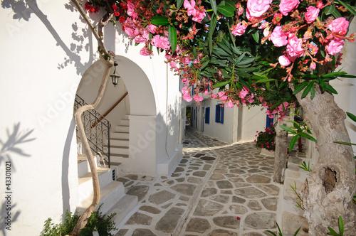 Small backstreet on Amorgos island, Greece