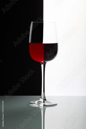 Glasses with wine