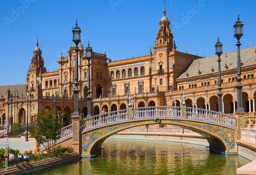 Fototapeta premium most Plaza de Espana, Sewilla, Hiszpania