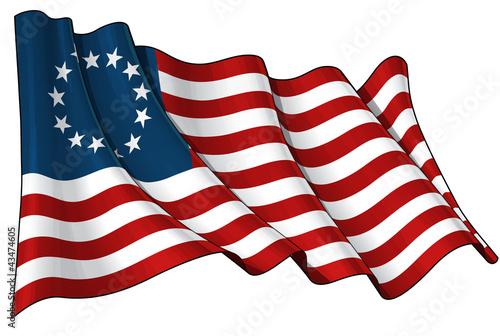 Carta da parati USA Betsy Ross flag