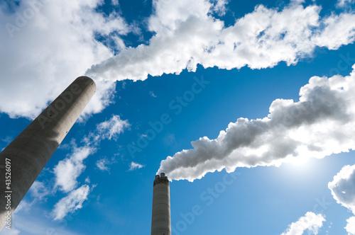 Obraz na płótnie smoking chimneys