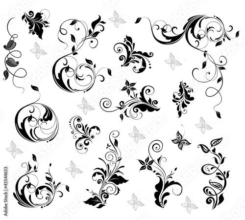 Elegant floral design #43544633