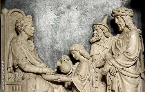 Fotografie, Obraz Pontius Pilate washing his hands