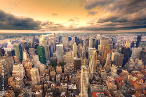 Crépuscule sur New York.