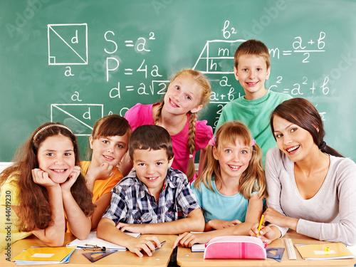 School child with teacher. #44019230