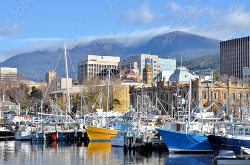 Fishing Boat At Wharf in Hobart Harbour