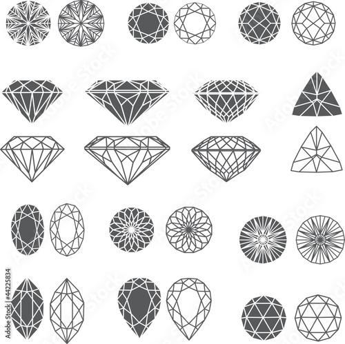 diamond design elements - cutting samples #44225834