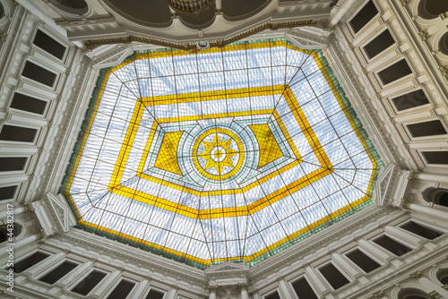 Glass atrium on the roof of Warsaw Polytechnic in Poland