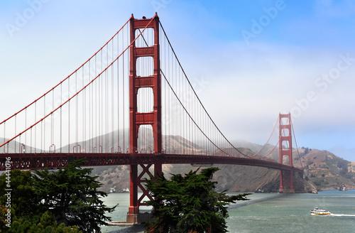 Fog Rolling on Golden Gate Bridge #44441096