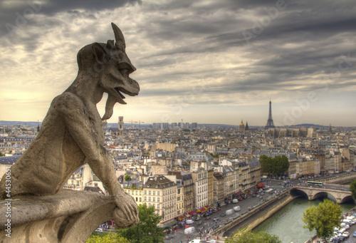 Fotografia, Obraz Gargoyle on Notre Dame de Paris