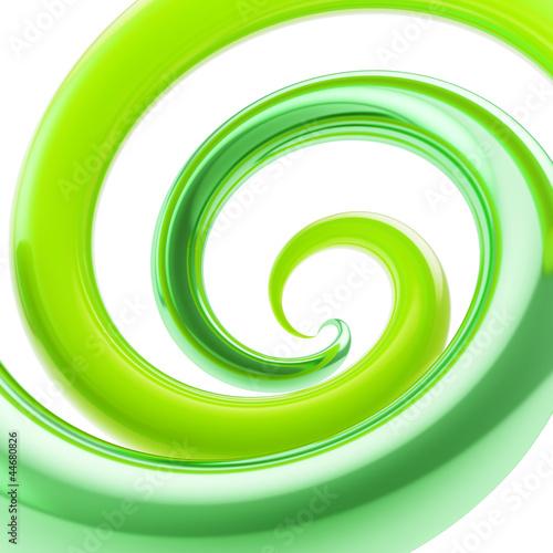 Wirujący krzywej tubki wir jako abstrakcjonistyczny tło