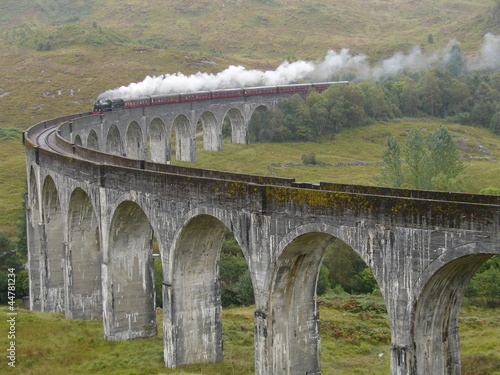 Fototapeta premium Pociąg na wiadukt Glenfinnan. Szkocja.