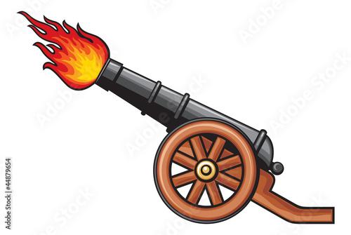 Obraz na plátně Medieval cannon