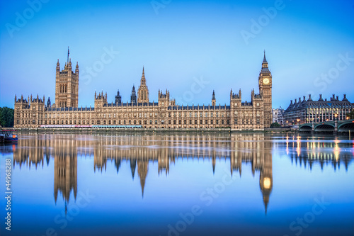 Fotografie, Obraz Hdr image of Houses of parliament