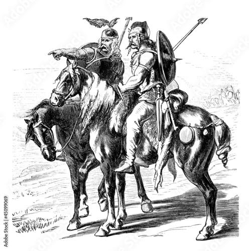 Obraz na płótnie Antiquity : Gallic Horsemen