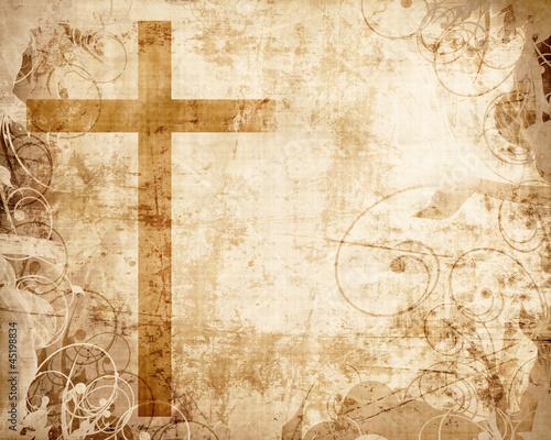 Photo Cross on parchment