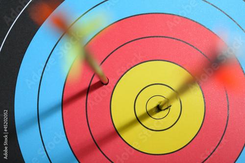 arrow hit target Fototapete