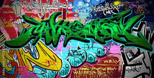 Graffiti Art Vector Background. Urban wall